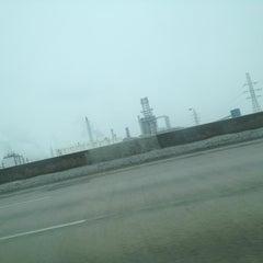 Photo taken at I-75 Rouge River Bridge by JM E. on 12/29/2012