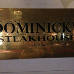 Photo taken at Dominick's Steakhouse by Raubin P. on 1/3/2013
