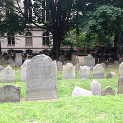 Photo taken at King's Chapel Burying Ground by Laurent R. on 7/13/2013