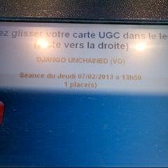 Photo taken at UGC Odéon by Amélissa S. on 2/7/2013