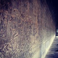 Photo taken at Angkor Wat Temple (អង្គរវត្ត) by Gabor S. on 1/2/2013