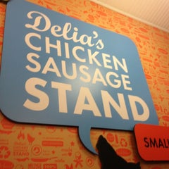 Photo taken at Delia's Chicken Sausage Stand by Gray W. on 3/2/2013