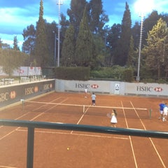 Photo taken at Filothei Tennis Club by Freddy G. on 9/15/2012