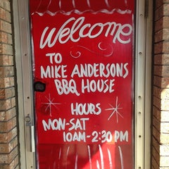 Photo taken at Mike Anderson's BBQ House by Bear L. on 2/14/2013