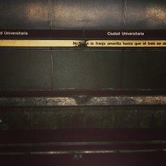Photo taken at Metro - Ciudad Universitaria by Pablo E. P. on 8/28/2013