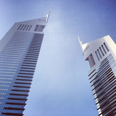 Photo taken at Emirates Towers أبراج الإمارات by Brian S. on 4/5/2013