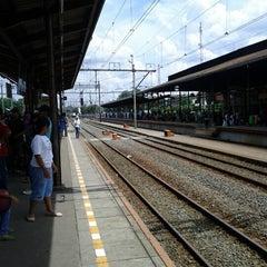 Photo taken at Stasiun Jatinegara by Mutiara M. on 12/23/2012