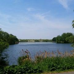 Photo taken at Lac de Lognes by Driss A. on 5/4/2014