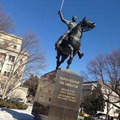 Photo taken at Simon Bolivar, the Liberator Statue by Eugenio O. on 2/22/2014