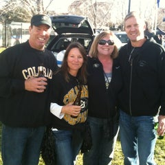 Photo taken at Franklin Field. GO BUFFS by Kimbirly O. on 11/23/2012