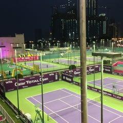 Photo taken at Khalifa International Tennis & Squash Complex by Abdulkader S. on 2/17/2013