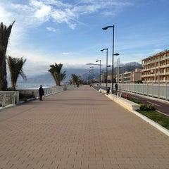 Photo taken at Passeggiata Bordighera-Vallecrosia by Giorgio A. on 2/1/2013