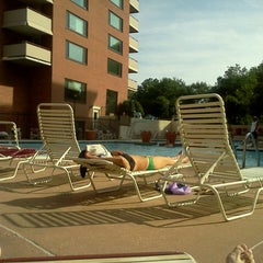Photo taken at River Place Pool by Lukas Z. on 6/2/2014