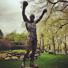 Photo taken at Rocky Statue by Grant B. on 4/23/2013