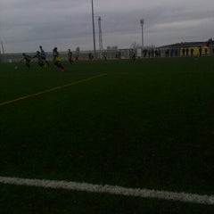 Photo taken at Camp De Futbol De St. Pere Pescador by Jaume S. on 1/18/2014