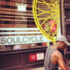 Photo taken at SoulCycle Union Square by Eric B. on 7/14/2013