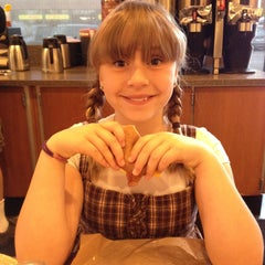 Photo taken at Einstein Bros Bagels by Gina W. on 5/10/2013