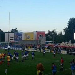 "Photo taken at Stadionul Național de Rugby ""Arcul de Triumf"" by alYin a. on 6/17/2015"