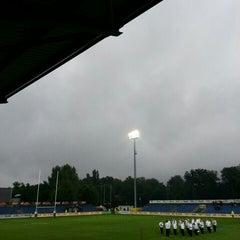"Photo taken at Stadionul Național de Rugby ""Arcul de Triumf"" by alYin a. on 6/21/2015"