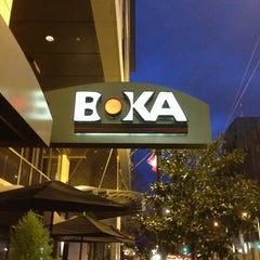 Photo taken at BOKA Restaurant + Bar by Michael on 4/8/2013
