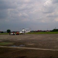 Photo taken at Bandar Udara Pondok Cabe (PCB) by Akbar A. on 11/15/2013