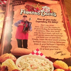 Photo taken at Famous Dave's by Anthony K. on 10/28/2012