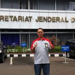 Photo taken at Gedung Nusantara I by Wahyu N. on 1/15/2015