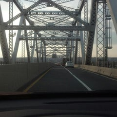 Photo taken at Outerbridge Crossing by Joanne M. on 12/4/2012