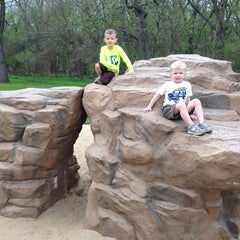 Photo taken at Walnut Woods State Park by Joshua C. on 5/8/2014