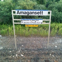 Photo taken at LIRR - Amagansett Station by Fred W. on 8/11/2014