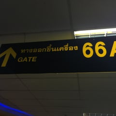 Photo taken at Gate 66 by Thicha on 2/29/2016