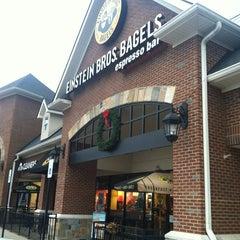 Photo taken at Einstein Bros Bagels by Melissa B. on 12/6/2012