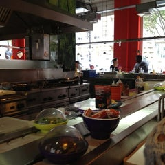 Photo taken at YO! Sushi by Karina S. on 9/30/2012