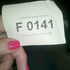 Photo taken at Previdência Social (APS Brás) by *isabelanancy *. on 11/16/2012