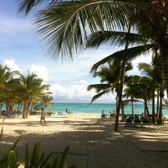 Photo taken at Riu Palace's Beach by Anna V. on 10/17/2012