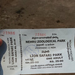 Photo taken at Nehru Zoological Park by Denis R. on 3/30/2014