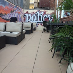 Photo taken at Policy Restaurant & Lounge by Mark B. on 4/25/2013