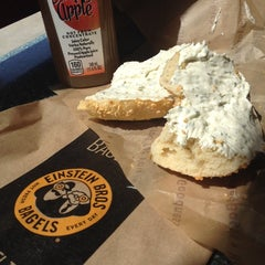 Photo taken at Einstein Bros Bagels by Arlene V. on 5/10/2014