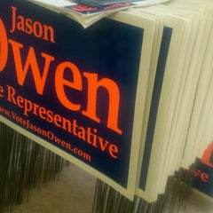 Photo taken at Jason Owen for State House HQ by Tiffany I. on 10/10/2012