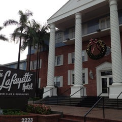 Photo taken at The Lafayette Hotel, Swim Club & Bungalows by Steve G. on 12/15/2012