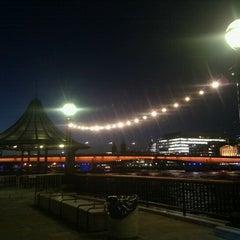 Photo taken at London Bridge City Pier by Dan B. on 10/23/2013