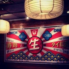Photo taken at Dib Sushi Bar & Thai Cuisine by John L. on 1/19/2014