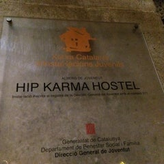 Photo taken at Hip Karma Youth Hostel Barcelona by Anton M. on 5/17/2014