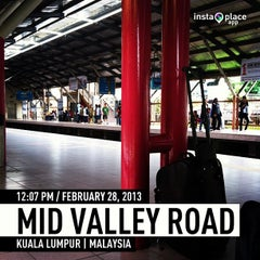 Photo taken at KTM Line - Mid Valley Station (KB01) by Jamaludin A. on 2/28/2013