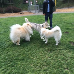 Photo taken at St. Mary's Park Dog Run by Donnie B. on 4/21/2015