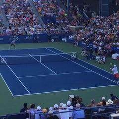 Photo taken at Grandstand - USTA Billie Jean King National Tennis Center by Chris W. on 9/5/2015