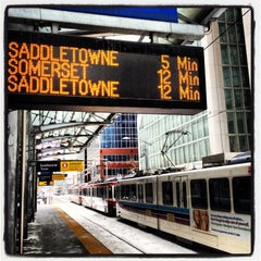 Photo taken at City Hall (C-Train) by Oxana S. on 3/22/2013