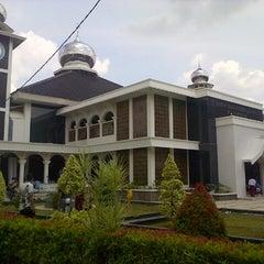 Photo taken at Masjid Agung Purwakarta by Jonni H. on 12/6/2013