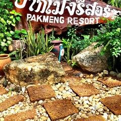 Photo taken at ปากเมงรีสอร์ท (Pakmeng Resort) by Nathan Yok N. on 6/2/2014