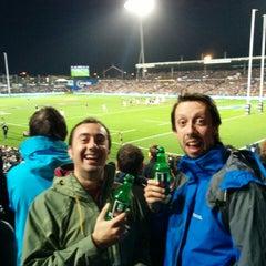 Photo taken at Waikato Stadium by Scoot on 6/21/2014